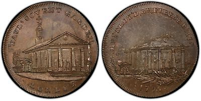 GREAT BRITAIN. Middlesex. 1795 CU Halfpenny Token. PCGS MS65BN D&H 522a.