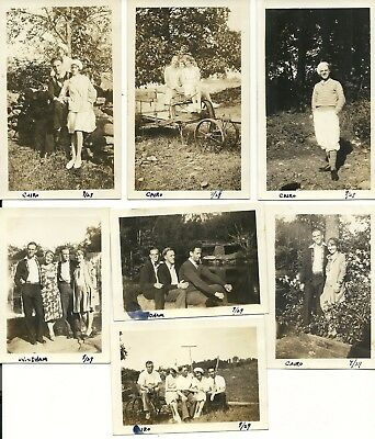 "Vintage 1920's Photograph Lot of Seven ""Fun with Friends"""