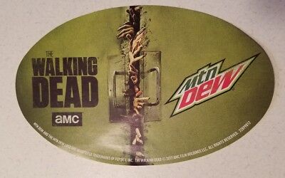 The Walking Dead Mountain Dew Promotional Sticker Decal Bumper HTF!  AMC TWD New