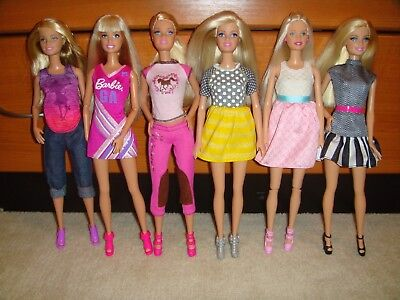 Barbie Doll Lot Of 6 Dolls Fully Clothed With Shoes Excellent Condition Lot 69
