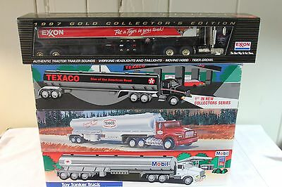 Rare Mib Exxon 1997 Gold Dealer Ed. Serially Numbered Tanker Truck & 3 Others