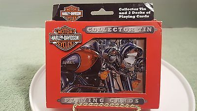 HARLEY DAVIDSON 2003 Collector Tin with 2 Decks of Playing Cards