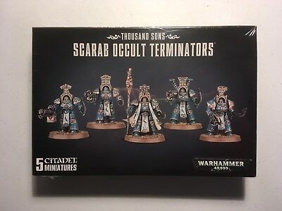 Warhammer 40,000 Thousand Sons Scarab Occult Terminators New And sealed