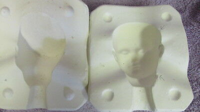 Seeley S87 AT Silver Doll Head Ceramic/Porcelain Ceramic Mold  S3