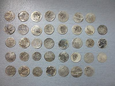 LOT of 38pcs SILVER OTTOMAN TURKISH TURKEY ISLAMIC AKCE COINS - EXTREMELY RARE!