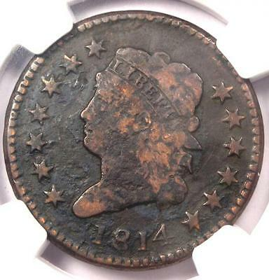 1814 Classic Liberty Large Cent (S-295 1C, Plain 4) - NGC VF Detail - Rare Date