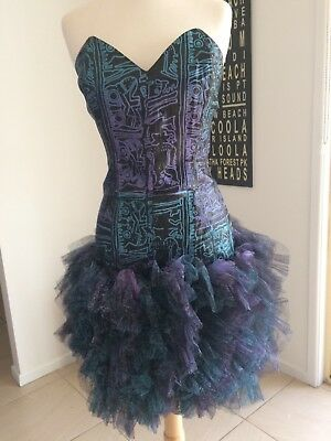 VINTAGE STUDIBAKER HAWK 80s PROM dress iconic COLLECTABLE gown