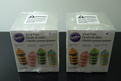 Wilton Treat Push Pops 2 Boxes Layered Pillar Cake Container 8 Pops Total