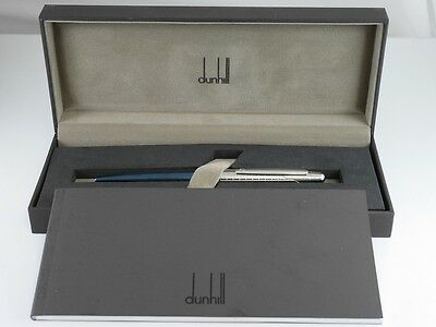 dunhill AD1800 Metallic Blue and Grid Ballpoint Pen (NEW)