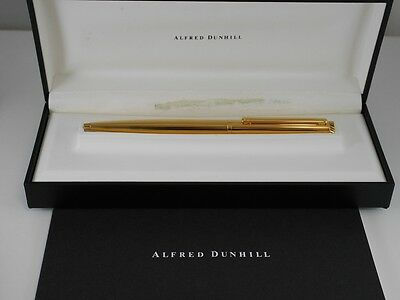 dunhill New-Gemline Gold Plated Pinstripe Ballpoint Pen (NEAR MINT)