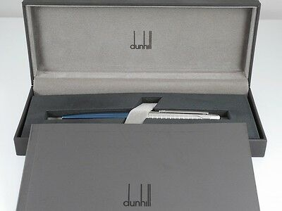 dunhill AD1800 Metallic Blue and Grid Ballpoint Pen (NEAR MINT)