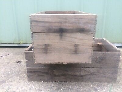 rustic old wooden boxes