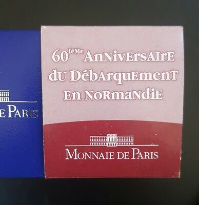 "2004 FRANCE ""D"" Day 1.5 EURO SILVER PROOF ....."