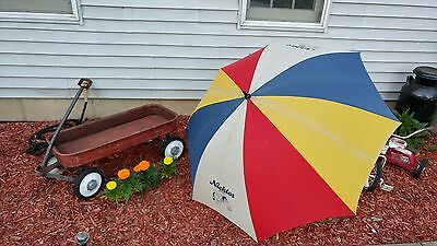 Super Cool Vintage Nickles Bakery HUGE Advertising Umbrella! 56 Inches! Colors!