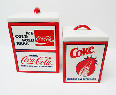 Coca-Cola Coke Canister Set By Pacific Enterprise - Things Go Better With Coke