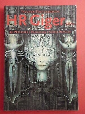 Postcard Book of 30 : H R GIGER : Taschen Postcardbook ARh+ : Germany 1995