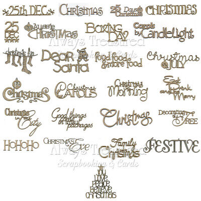 Scrap FX Chipboard Words Christmas ~25x Word Options Xmas Title Wordlets scrapfx