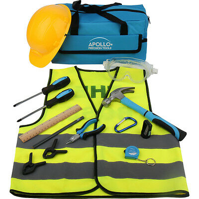 Apollo Tools My First Tool Kit - 14 Piece - Blue Sports Accessorie NEW