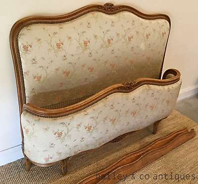French Vintage Bed Louis XV Corbeille Style - French Double * V1023