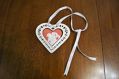 Wedgwood Jasperware Red Our First Christmas Together 2007 Ornament Heart