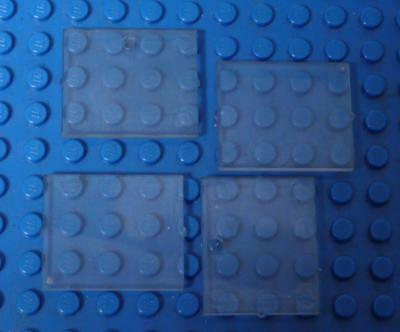 LEGO Glass for Window 1 x 4 x 3 Trans Clear x4PC