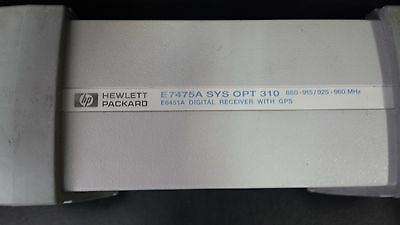 Agilent E7475A Sys Opt 310 880-915/925-960Mhz E6451A Receiver With Gps