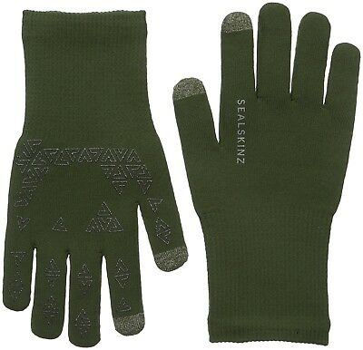 (Olive, X-Large) - SealSkinz Ultra Grip Touch Screen Gloves Olive. Best Price