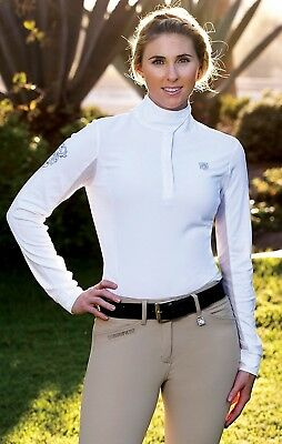 (Small, Chambrey) - Romfh Ladies Competitor LS Show Shirt. Brand New