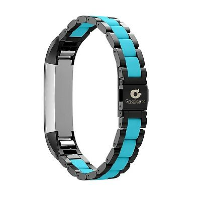 (C2-Black-Teal) - Greeninsync Fitbit Alta Bands, Fitbit Alta Replacement Band
