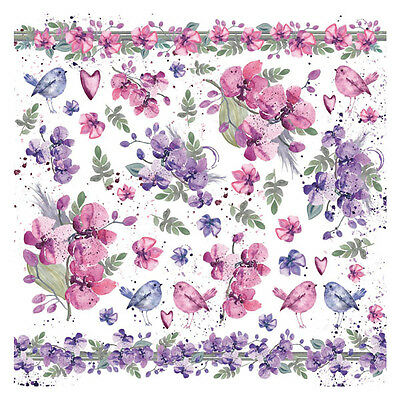 1 Decoupage Reispapier Serviette DFT303 Watercolor violets