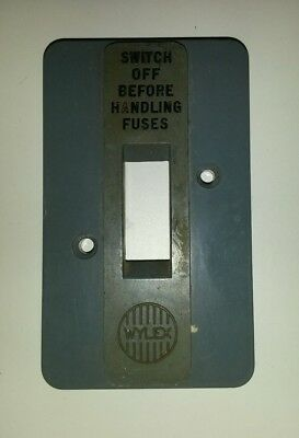 Used Wylex fuse board main switch cover.