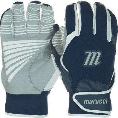 (Large, Navy Blue) - Marucci Youth Venture Batting Gloves. Brand New