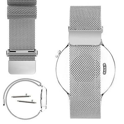 (Silver) - HuaWei Watch Band, Biaoge Milanese Loop Magnetic With Connector