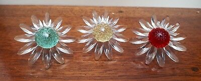 Swarovski SCS Crystal Flower Marguerite Daisy - Red - Yellow - Green VGC