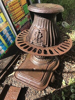 Pot Belly Wood Heater 100 Years Old Made In Melbourne Rare Old Wood Heater
