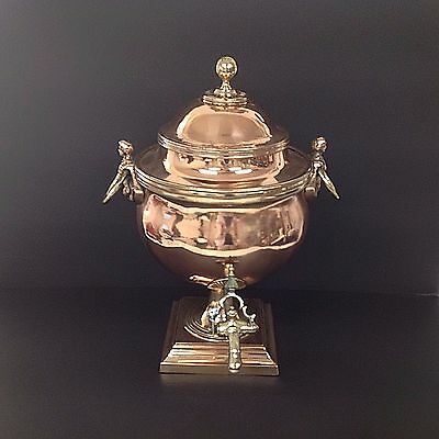 SUPERB ANTIQUE COPPER SAMOVAR CIRCA late 19th century - beautiful display piece.
