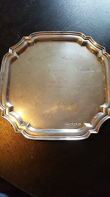 Solid silver Salver. Almost half a kilo