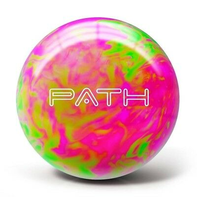 (5.4kg, Hot Pink/Lime Green) - Pyramid Path Bowling Ball. Delivery is Free