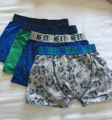 Pre-owned 4  x NEXT Boys Boxer Shorts  ⭐️ Pants Trunks Underwear Age 9-10 Years