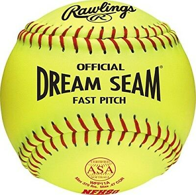 Rawlings Sporting Goods 28cm Fast Pitch Softball WFP11A. Free Delivery
