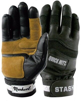 (Adult Large) - Baseball/Softball Proper Grip Batting Gloves with Durable