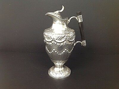 Antique Silver plated Claret / Wine Jug with classical Repousse decoration