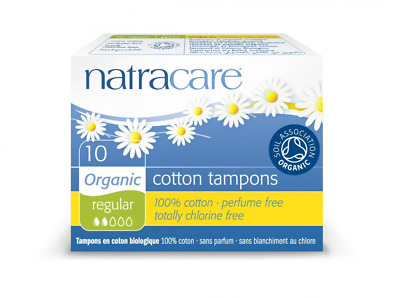 Natracare Organic All Cotton Regular Non-Applicator Tampons