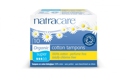 Boîtes de 10 Tampons Sans Applicateur - SUPER - Coton Bio