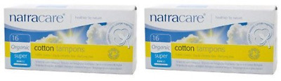 (LOT DE 2) - Natracare - Org Applicator Tampons Super | 16pieces | LOT DE 2