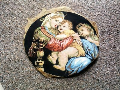 An Antique/vintage Tapestry Beautiful Colours (Mother,baby And Child)