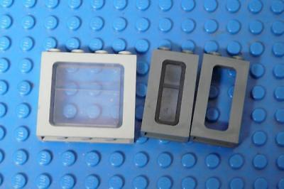 LEGO Window Train Gray with Glass Assorted  x3PC