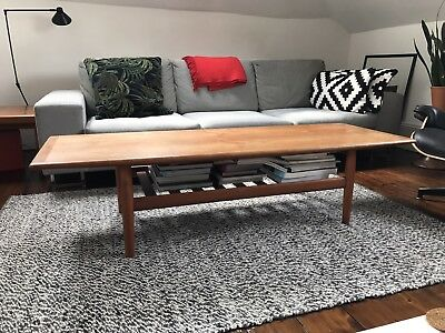 Danish Vintage Teak Coffee Table by Grete Jalk 1960s