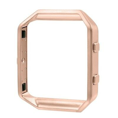 (Rose Gold) - Frame for Fitbit Blaze, Greatgo Replacement Accessory Stainless