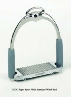 (13cm , Stainless) - MDC Super Sport Stirrups 12.7cm Stainless. Delivery is Free